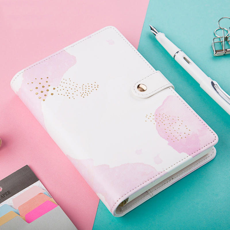 Latest Notebook Kawaii A6 Personal Diary Agenda Day Planner Sketchbook Office School Supplies Spiral Loose Creative Stationery 365 day thick hardcover personal diary