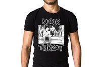 Minor Threat Dias de Salada 1985 T-Shirt Tampa Álbum de Compilação-Hardcore Punk Hip-Hop Simples Splicing Tee Encabeça Camiseta