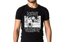 Minor Threat Salad Days 1985 Compilation Album Cover T-Shirt – Hardcore Punk Hip-Hop Simple Splicing Tee Tops T Shirt