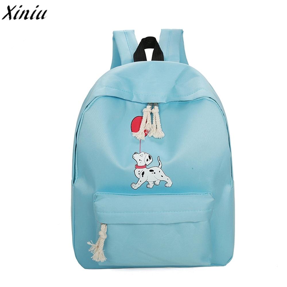 Girl Schoolbag Dog Printing Nylon New Fashion Backpack Travel Rucksack Back Pack Small Fresh Bagpack Sac A Dos Femme #9727
