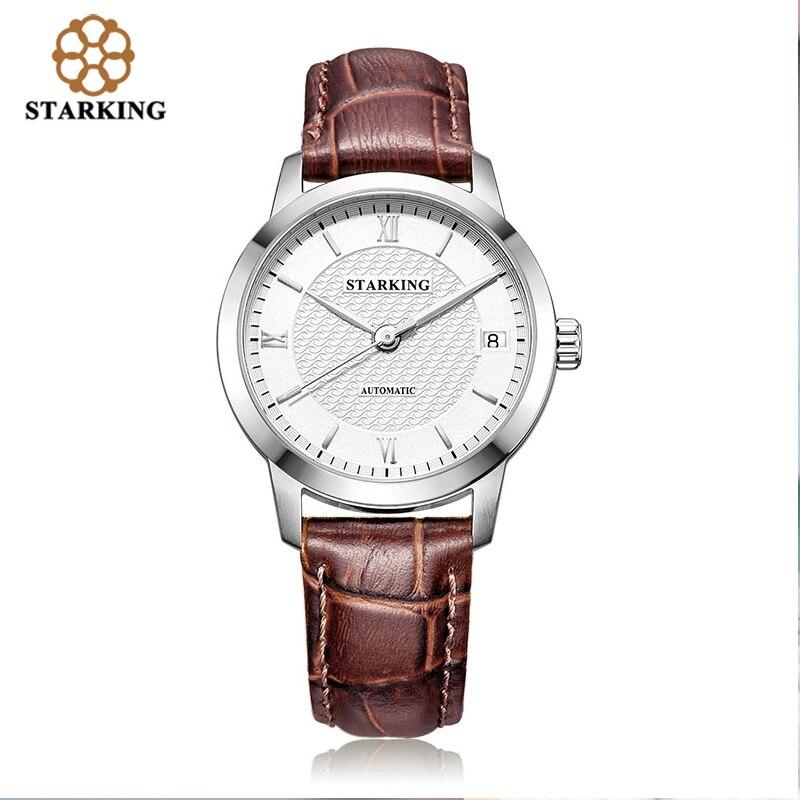 STARKING Relogio Masculino Women Automatic Mechanical Watches Luxury Famous Brand Skeleton Stainless Steel Sapphire Wrist Watch все цены