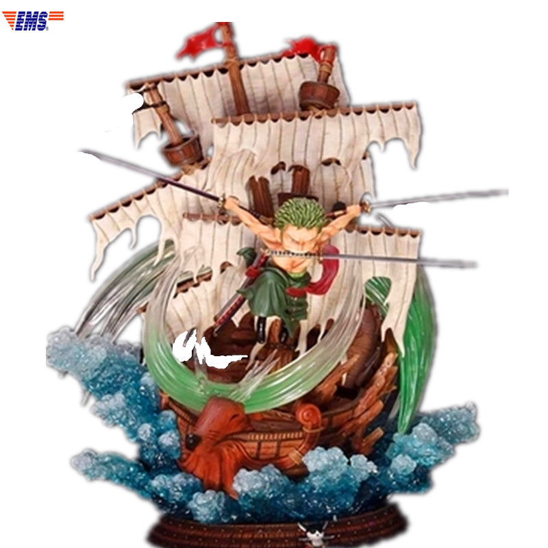 ONE PIECE The Straw Hat Pirates Roronoa Zoro Santoryu Scenes Statue Action Figure Collection Model Toy X498ONE PIECE The Straw Hat Pirates Roronoa Zoro Santoryu Scenes Statue Action Figure Collection Model Toy X498