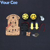 1 pcs New Motor Smart Robot Car Chassis Electronic Manufacture DIY Kit Speed Encoder Battery Box 2WD For Arduino Robot