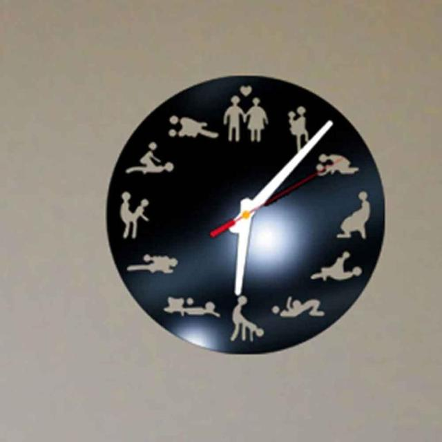 9425be3c49a Venda quente! DIY Criativo Padrão Sexo Relógio de Parede Espelho Acrílico  Adesivos de Parede Padrão