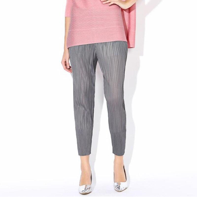 Жіночі штани високої моди літо нове прибуття плісировані суцільні еластичні талії штани олівець зручні штани гарем плюс розмір