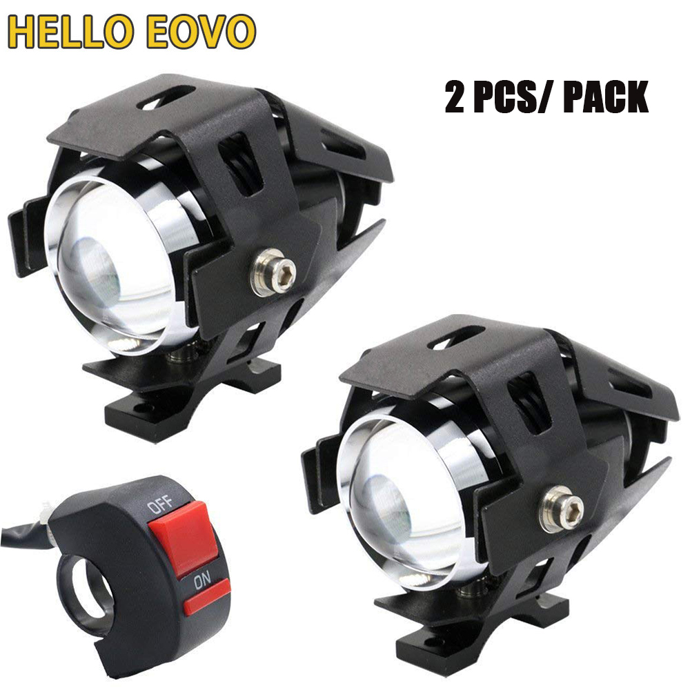2pcs 125W 12V 3000LM U5 LED Transform Spotlight Motorcycle Headlight Alloy Material High Brightness Easy to Install2pcs 125W 12V 3000LM U5 LED Transform Spotlight Motorcycle Headlight Alloy Material High Brightness Easy to Install