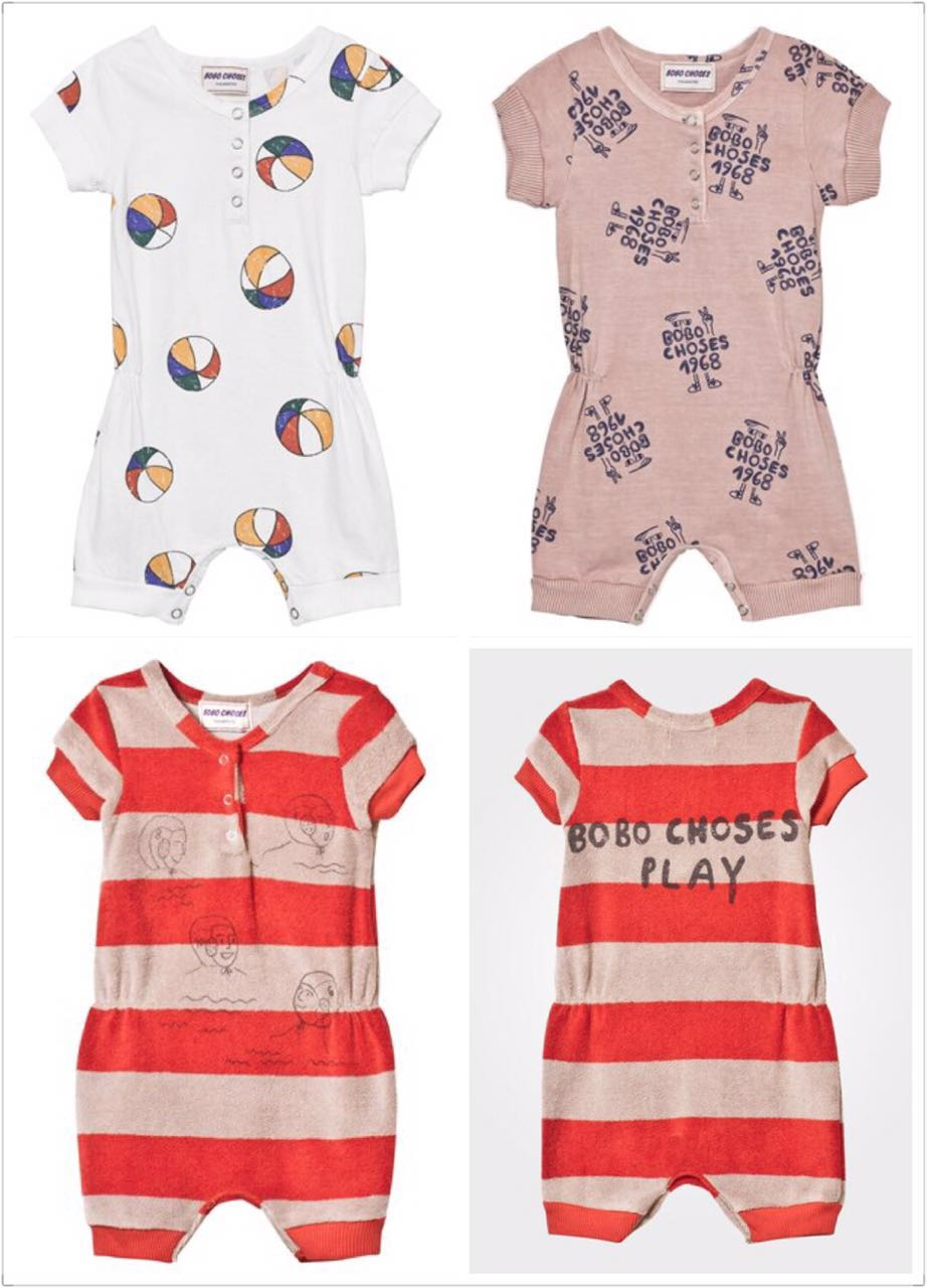 INS HOT 2017 bobo choses balls stripe SUMMER BABY GIRL CLOTHES baby boy clothes bABY ROMPERS