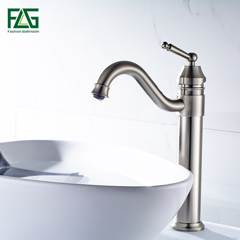 Hot Sale FLG Basin Faucets Gold Plated Deck Mounted Bathroom Faucets ...