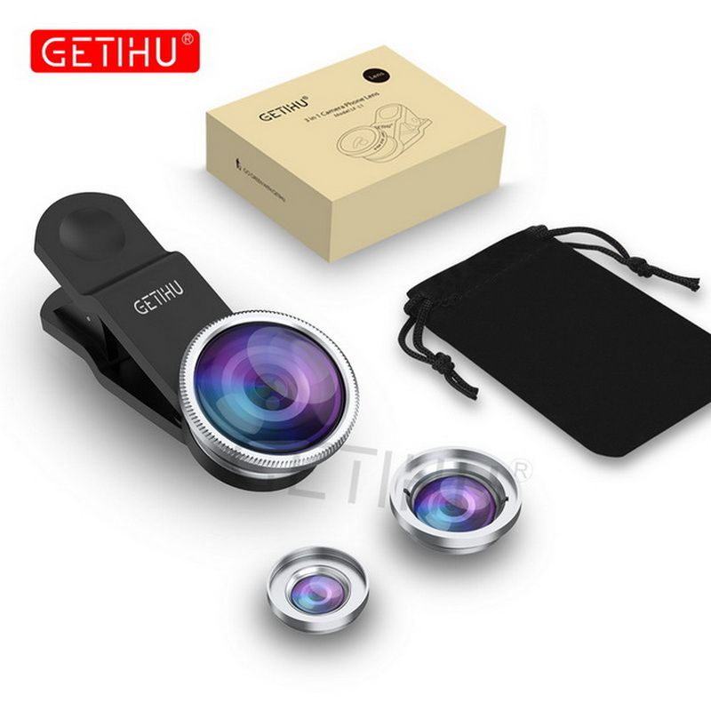 Universal Fish Eye 3in1 + Clip Fisheye Smartphone Camera Lens Wide Angle Macro Mobile Phone Lents For iPhone 7 6 5 4 Smart Phone 7
