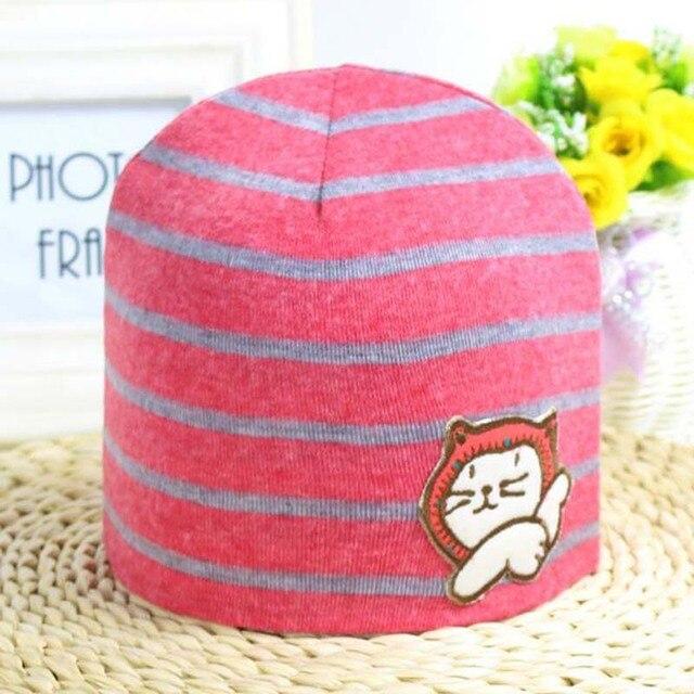 Protezione del bambino del cappello del bambino puro cotone a strisce dei  bambini calotta di ghiaccio 79d2f9b7cd00
