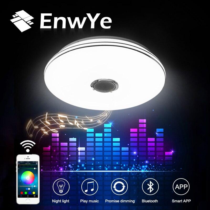 Rgb затемнения 36 Вт светодиодный потолочный светильник с Bluetooth и музыка 220 В современный светодиодный потолочный светильник для 15- 30 квадратн...