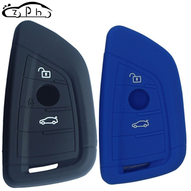 Silicone Car Key Cover Case for <font><b>BMW</b></font> <font><b>X1</b></font> X5 F15 X6 F16 1 2 5 7 Series 2016 2017 <font><b>2018</b></font> G30 G11 F48 F39 Remote Fob Shell <font><b>Accessories</b></font> image