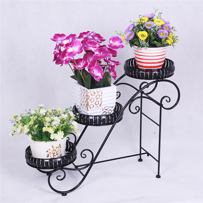 European artistic wrought iron flower pot holder to move the ladder three floor balcony room corner flower 0052 في European artistic wrought iron flower pot ...  sc 1 th 225 & European artistic wrought iron flower pot holder to move the ladder ...