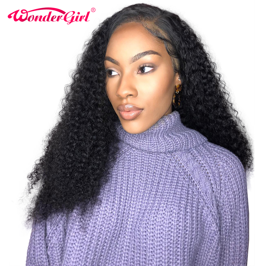 Wonder girl 13x6 Lace Front Human Hair Wigs Pre Plucked Brazilian Curly Human Hair Wig With