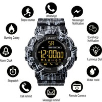 COXRY Camo Military Watch Men Smart Watch Sport Step Activity Monitor Pedometer Clock Standby 365 Days Bluetooth Smartwatch Box