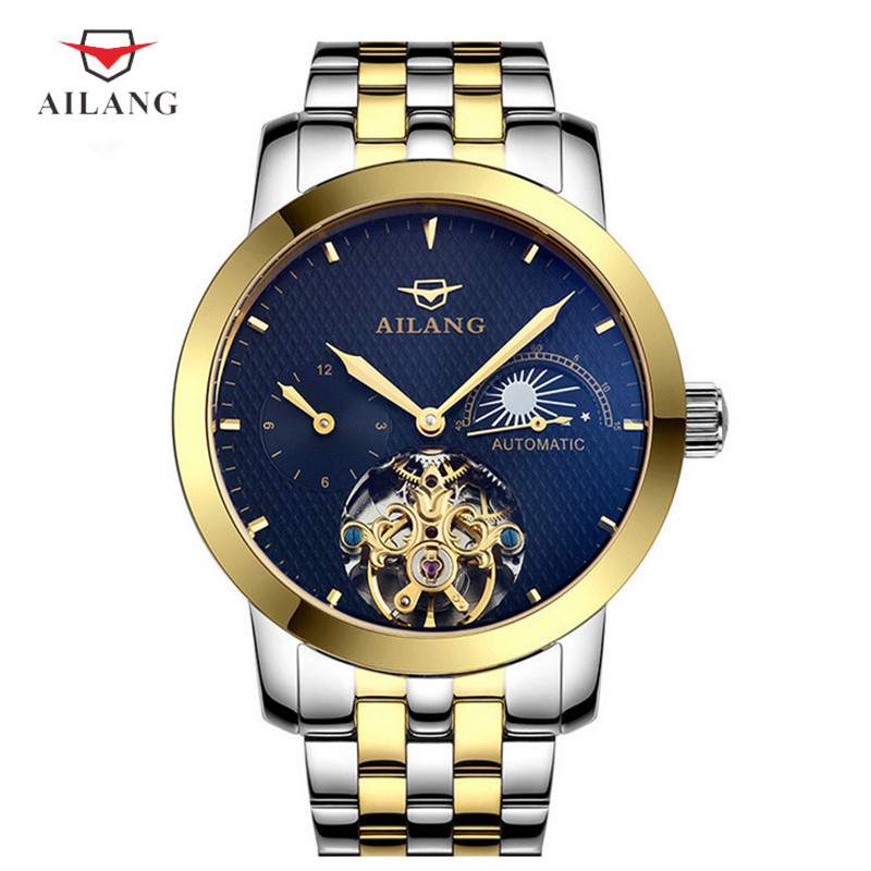 цена на AILANG Male Mechanical Wristwatches Metal Built-In Water Resistant Anti-Knife Fireproof Shock Resistant High Quality A051