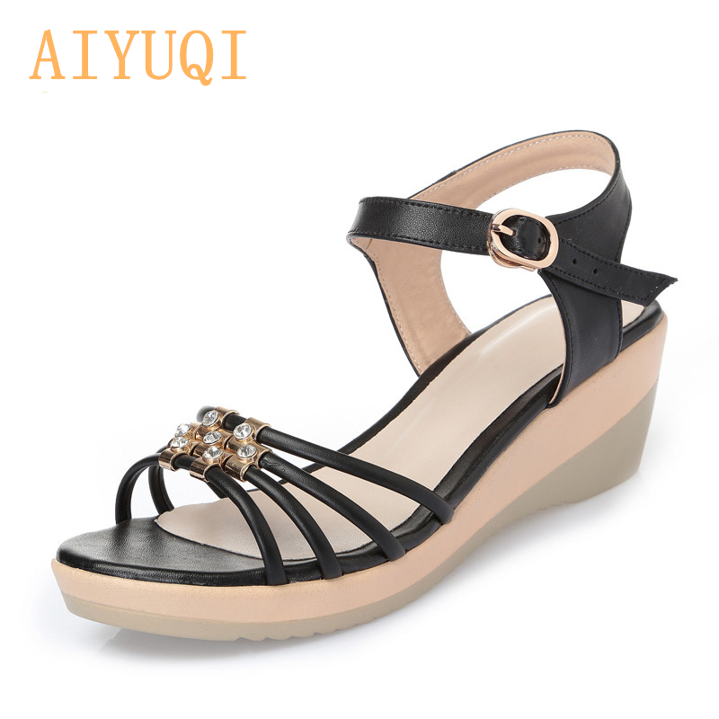 AIYUQI  2019 Summer Women Sandals, Fashion Open Toe Shoes Casual wedge Sandals for women Comfortable summer shoes Female