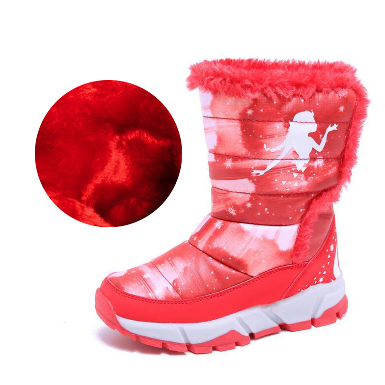 Children Shoes Winter New Style Girl Snow Boots pink Warm Thick Winter Boots for Toddler baby Girl shoes kids Boys cotton Boots 2018 high end baby girls children kids snow boots fashion winter thick warm cotton shoes children s boots n235