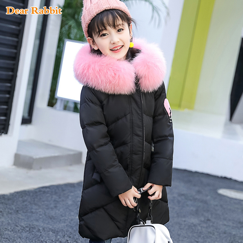 4-12 Y Childrenn Russia Winter Duck Down Jacket For baby Girl clothes Thick Kids Outerwears For Cold -30 degree Warm Coat parka a15 girls jackets winter 2017 long warm duck down jacket for girl children outerwear jacket coats big girl clothes 10 12 14 year