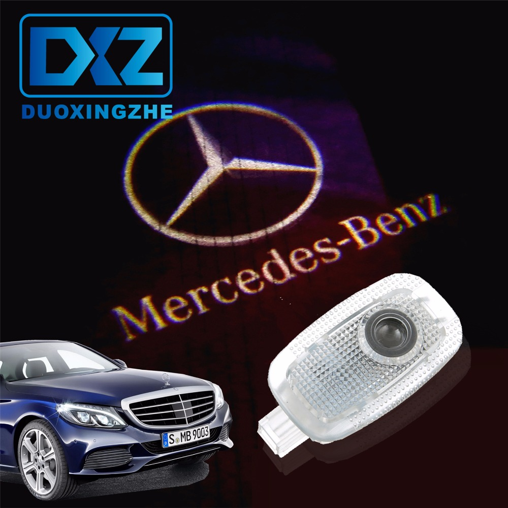 2Pcs LED Car Door Courtesy Laser Projector Logo Ghost Shadow Light for Mercedes Benz W221 Benz S Class S500 S350 S63 S65