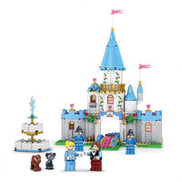 KAZI 531pcs Cinderella S Dream Girl Series Building Blocks Prince Princess Castle Figure Brick Parts Education