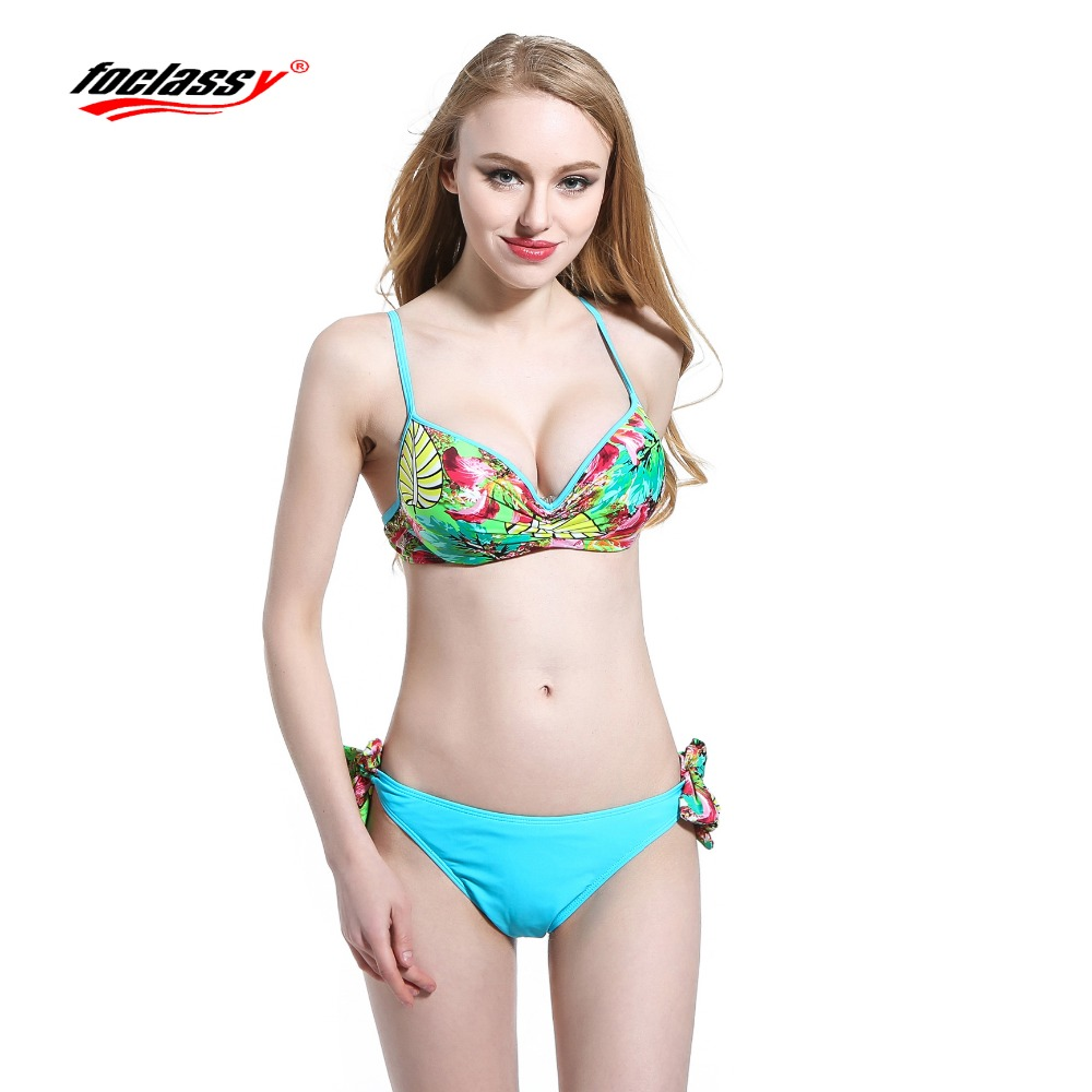 Foclassy Swimsuit Bikini 2017 Plus Size push up жиынтығы - Спорттық киім мен керек-жарақтар - фото 1