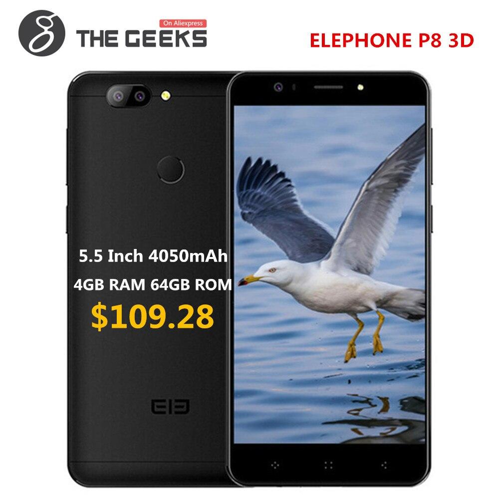 Original ELEPHONE P8 3D Series/P Callphone 5,5 pulgadas 4 GB RAM 64 GB ROM MTK6750T OctaCore huella digital desbloquear android 4G Smartphone