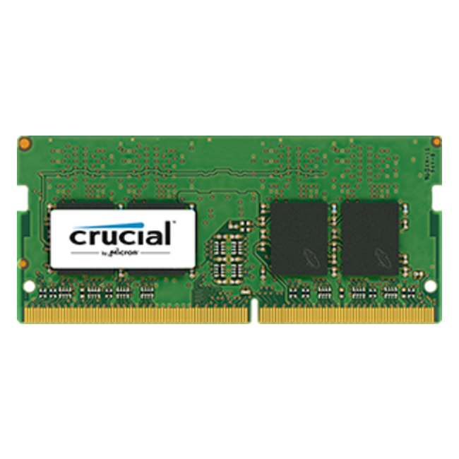 Crucial 8 GB DDR4 2400 MT/S 1.2 V, 8 GB, 1x8 GB, DDR4, 2400 MHz, SO-DIMM 260 broches