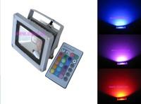 Gratis verzending! 10 W LED RGB schijnwerper, 10 W RGB LED spotlight, 220VAC, IP65 met IR afstandsbediening,, DS-TN-05-10W-RGB