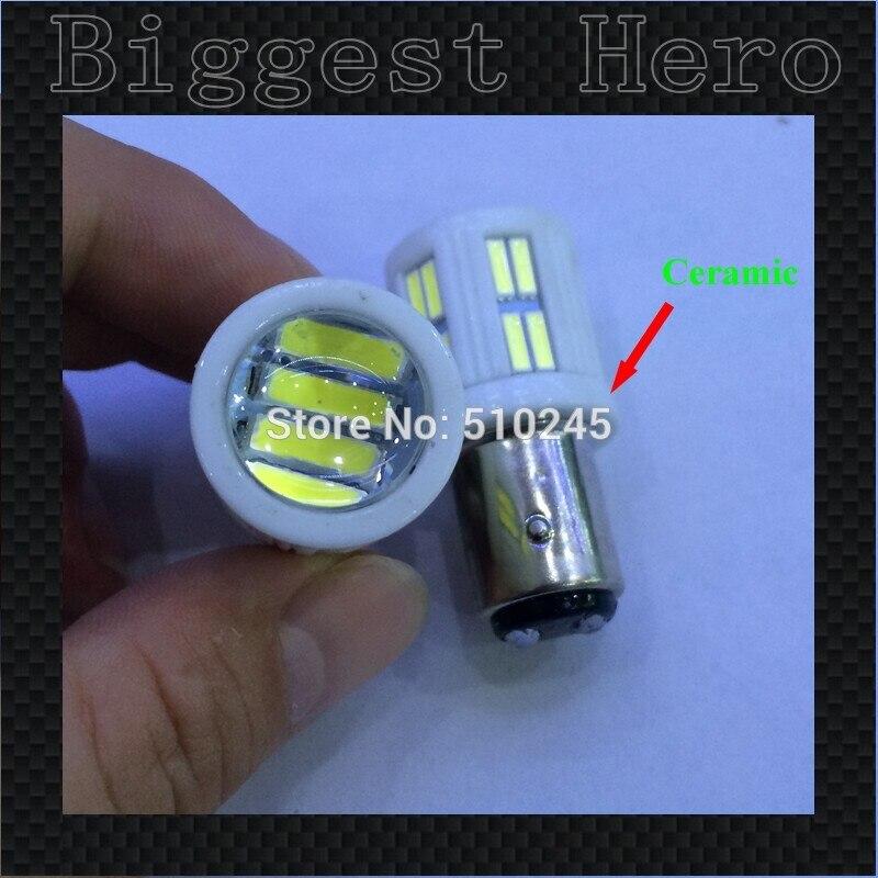 20X 12v-24v ceramic led car lamp 1157 lens 28 smd leds 7014 7020 BAY15D P21/5W tail brake Light Bulb Lamp free shipping