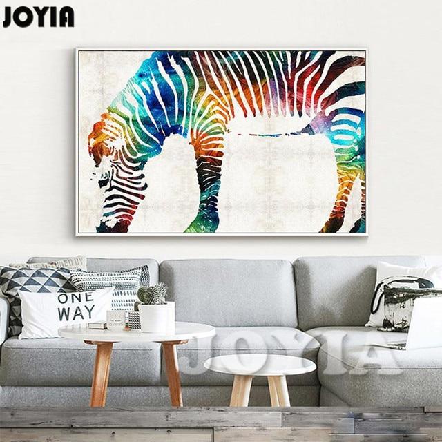Zebra Watercolor Art Print Painting Home Decor Animal Poster Wall Nursery