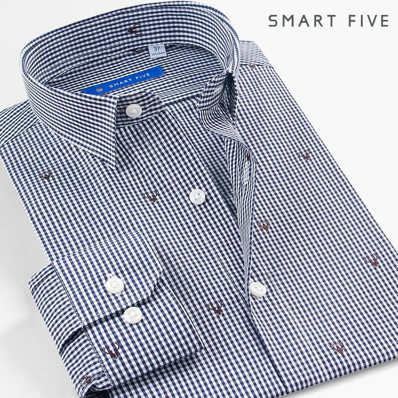 Smart Five font b Men b font font b Shirts b font Brand 2017 New Spring