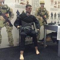 Mnotht 1/6 جندي غواص بذلة السباحة السراويل السوداء الملحقات ل 12 بوصة أرقام l30