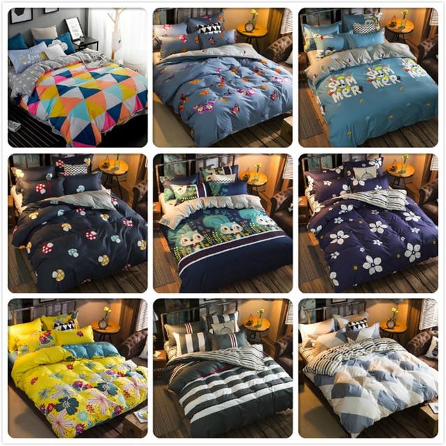 150x200 180x220 200x230 220x240 Duvet Cover Pillowcase 3pcs Bedding Sets Kids Child Adult Soft Cotton Bed Linens Queen King Size