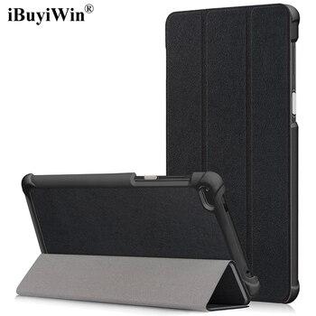 IBuyiWin מקרה עבור Lenovo Tab 4 7 TB-7504F TB-7504N TB-7504X 7.0 Slim מתקפל סטנד כיסוי עבור Lenovo Tab4 7 Tablet funda + סרט + עט