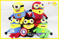 despicable me minion plush dolls Movie Character minions 40cm Batman/Spider-Man/Captain America/Superman/Hulk christmas gift