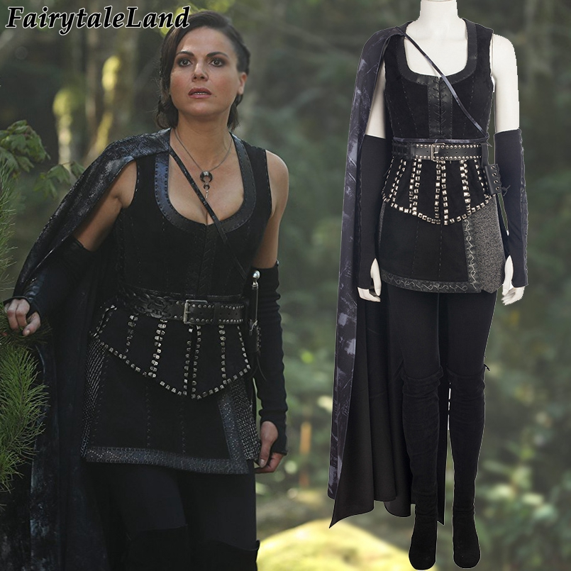 Once Upon A Time Costumes: Once Upon A Time Regina Mills Cosplay Costume Carnival