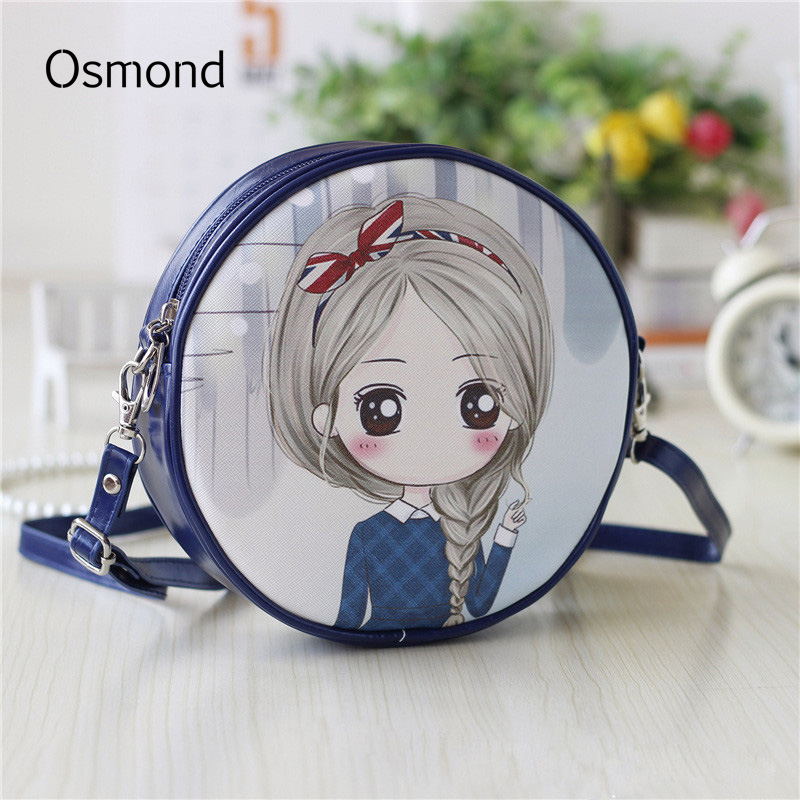 Osmond Small Shoulder Bags For Girls Handbag Cartoon Printing Bags Children Clutch Women Mini Leather Crossbody Bag
