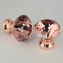 Poignées en alliage de Zinc, 12 pièces, Design en forme de diamant, cristal, boutons de porte, placard, tiroir, armoire