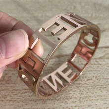 fashion brand rose gold stainless steel bangle for women trendy