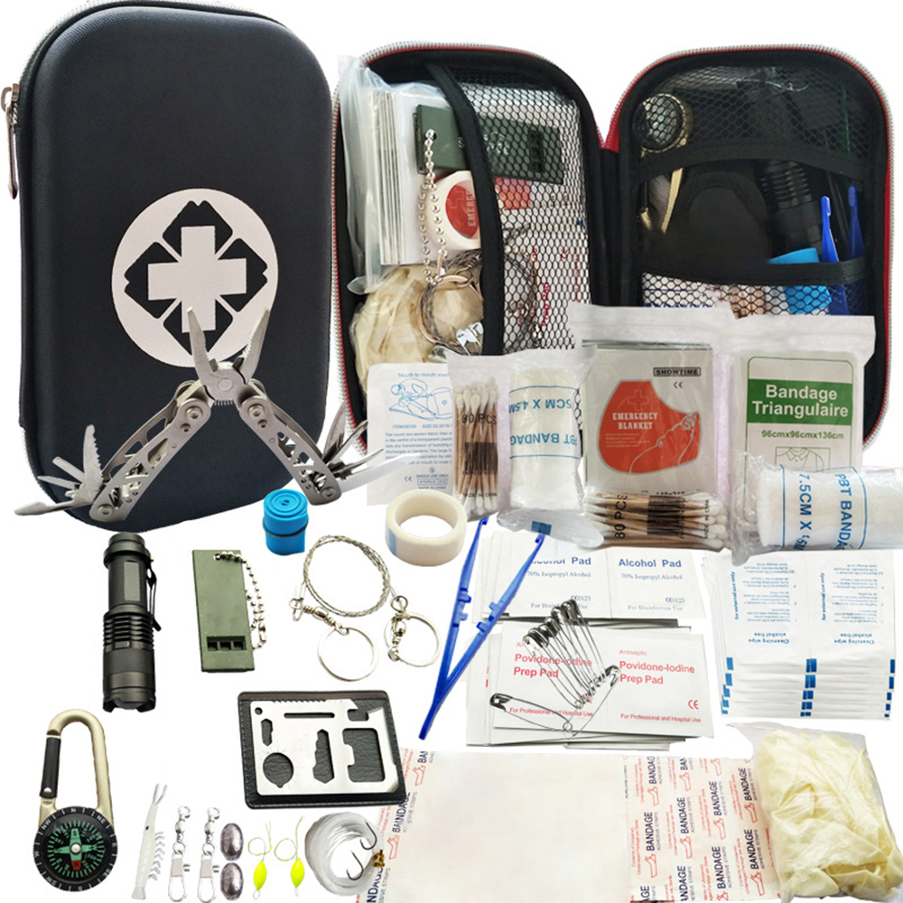 79 In 1 Outdoor Survival Kit Set Camping Travel Multifunction First Aid SOS EDC Emergency Supplies Tactical For Hunting Tool SOS