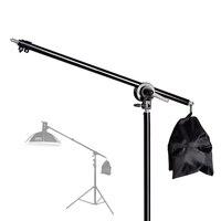 74-135 см телескопическая стойка для студийной фотосъемки со стрелой и песочницей для вспышки Speedlite/Mini Flash Strobe/Softbox/LED Video Light