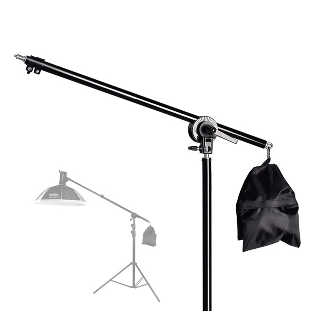 74-135cm Studio Photo Telescopic Boom Arm Top Light Stand With Sandbag For Speedlite /Mini Flash Strobe /Softbox/LED Video Light