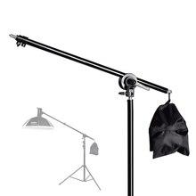 74-135 см студийный фото телескопическая стрела рычаг верхняя световая стойка с песочницей для Speedlite/Мини Вспышка Стробоскоп/софтбокс/светодиодный свет видео