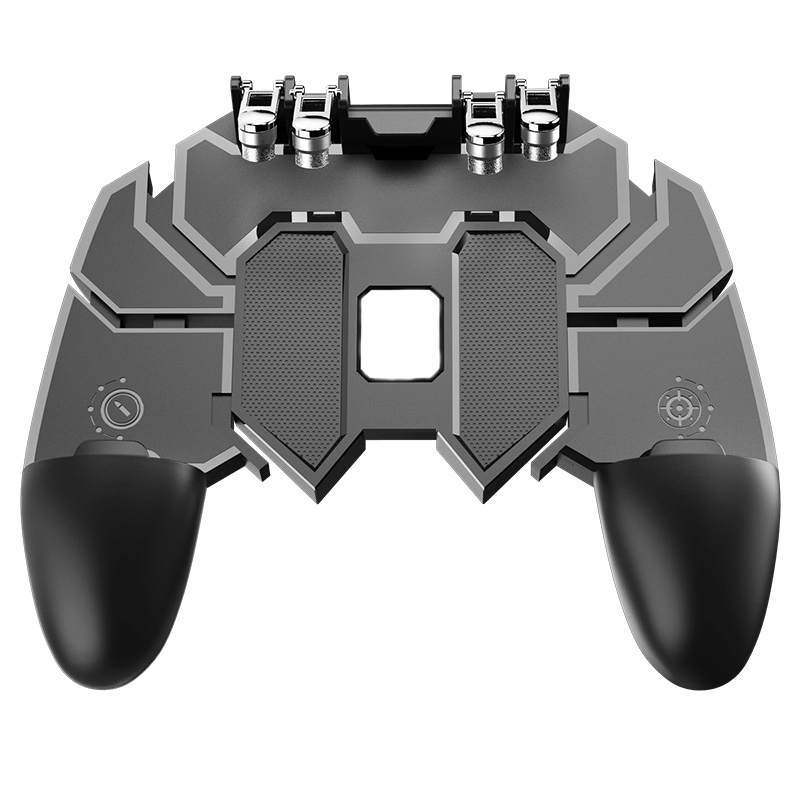 PUBG Mobile Phone Dzhostik Six-finger Gaming Trigger Shooter Gamepad L1R1 Controller Game Fire Button For iphone XS Max Android mobile phone