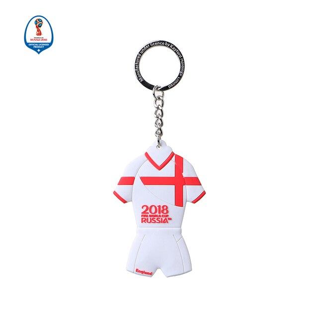 807398340 2018 Russia Word Cup England Jersey Shape Keychain Soccer Sports Souvenir  National Jersey Soccer Keyring Football Fans Souvenir