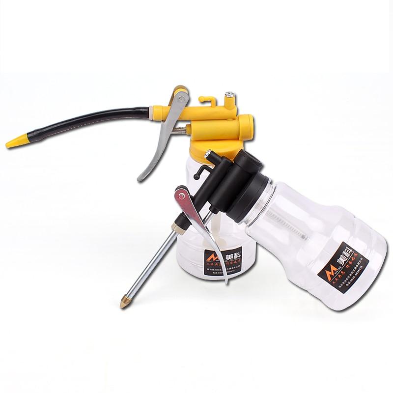 250ML 8oz Plastic Pump Type Oiler Flexible Tube Machine Oil Grease Spray Gun High Pressure Lubricant Airbrush Straight Spout