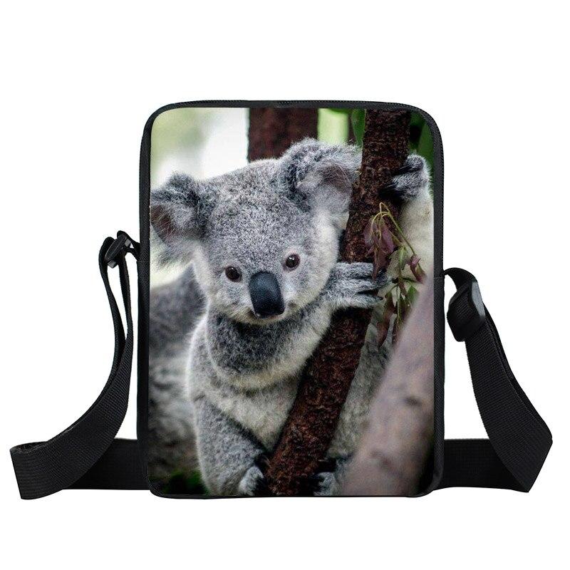 Animal Koala Bear Panda Mini Crossbody Bag Children School Bags Boys Girls Bookbag Kids Messenger Bags Mochila