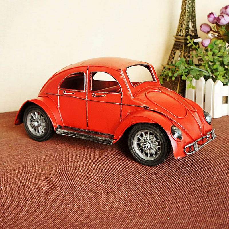 mni delicate old fashioned collectible metal handicraft old car ...