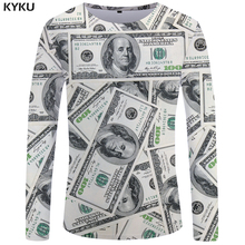 KYKU The Dollar Long sleeve T shirt Money Clothing Usa shirts  Tshirt Clothes Tops Tees Womens 3d Casual 2017 Female